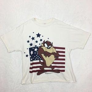 Vintage 90s Taz Shirt Crop Tazmanian Devil Looney